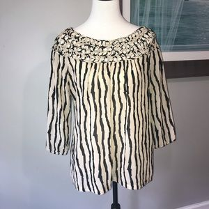 Women's Umgee black and tan top medium